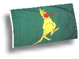 The Boxing Kangaroo - Känguru Flagge Australien