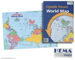 Poster - Australia - Upside Down - World Map