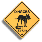 "Roadsign ""Dingo"" medium"
