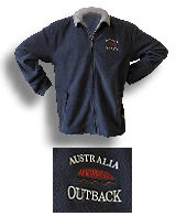 "Fleece Jacke ""Uluru"" grey - Australien"