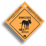 "Roadsign Sticker ""Dingo"""