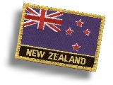 "Woven Batch ""New Zealand Flag"""