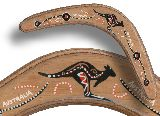 Returning Boomerang - Plywood - handpainted