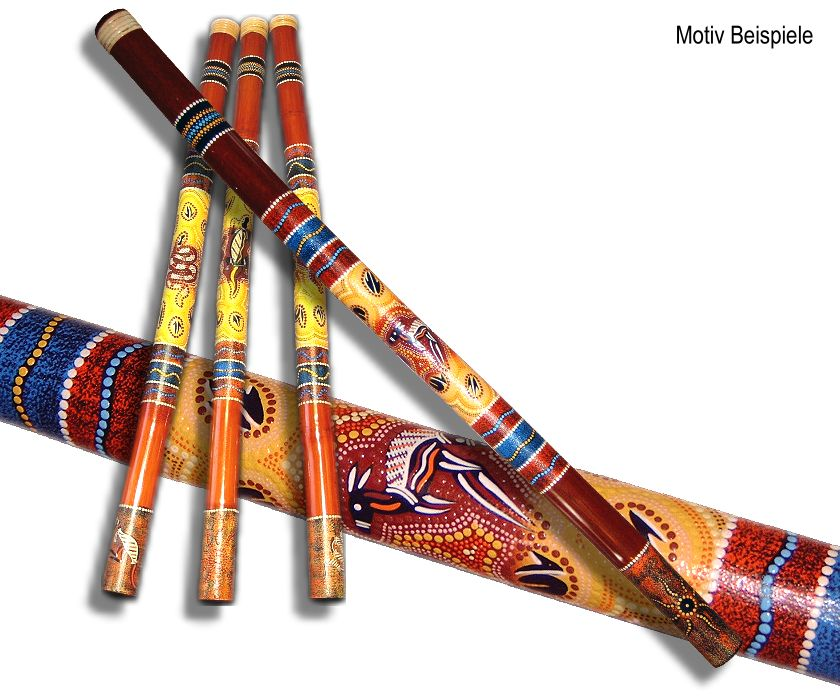 Didgeridoo - Pastel Dot Red-Yellow - Australien