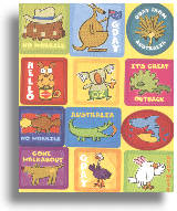 "Sticker Set ""Aussie Animals"""
