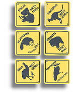 Coaster 6er Set - Australian Roadsigns