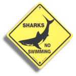 "Roadsign ""Sharks"" small"