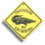 "Roadsign ""Crocodiles"" small"