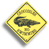 Australian Roadsign - Crocodiles