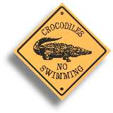 "Roadsign Sticker ""Crocodile"""