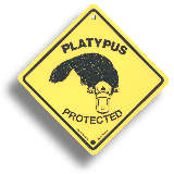 "Roadsign ""Platypus"" medium"