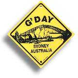 "Roadsign ""G'DAY - Sydney"" small"
