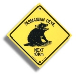 "Roadsign ""Tasmanian Devil"" medium"