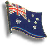 "Metall Badge ""Australia Flag"""